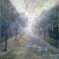 """The end of the street"", oils / canvas, 2011"