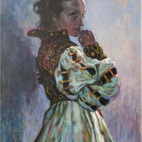 """Portrait of Anna in a theater costume"" 2, oils / canvas"