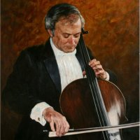 """Portrait of Prof.Stefan Popov"", oils on canvas"